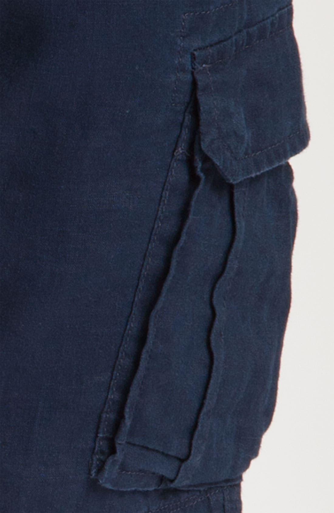 Alternate Image 3  - BOSS Black 'Crew' Linen Cargo Shorts