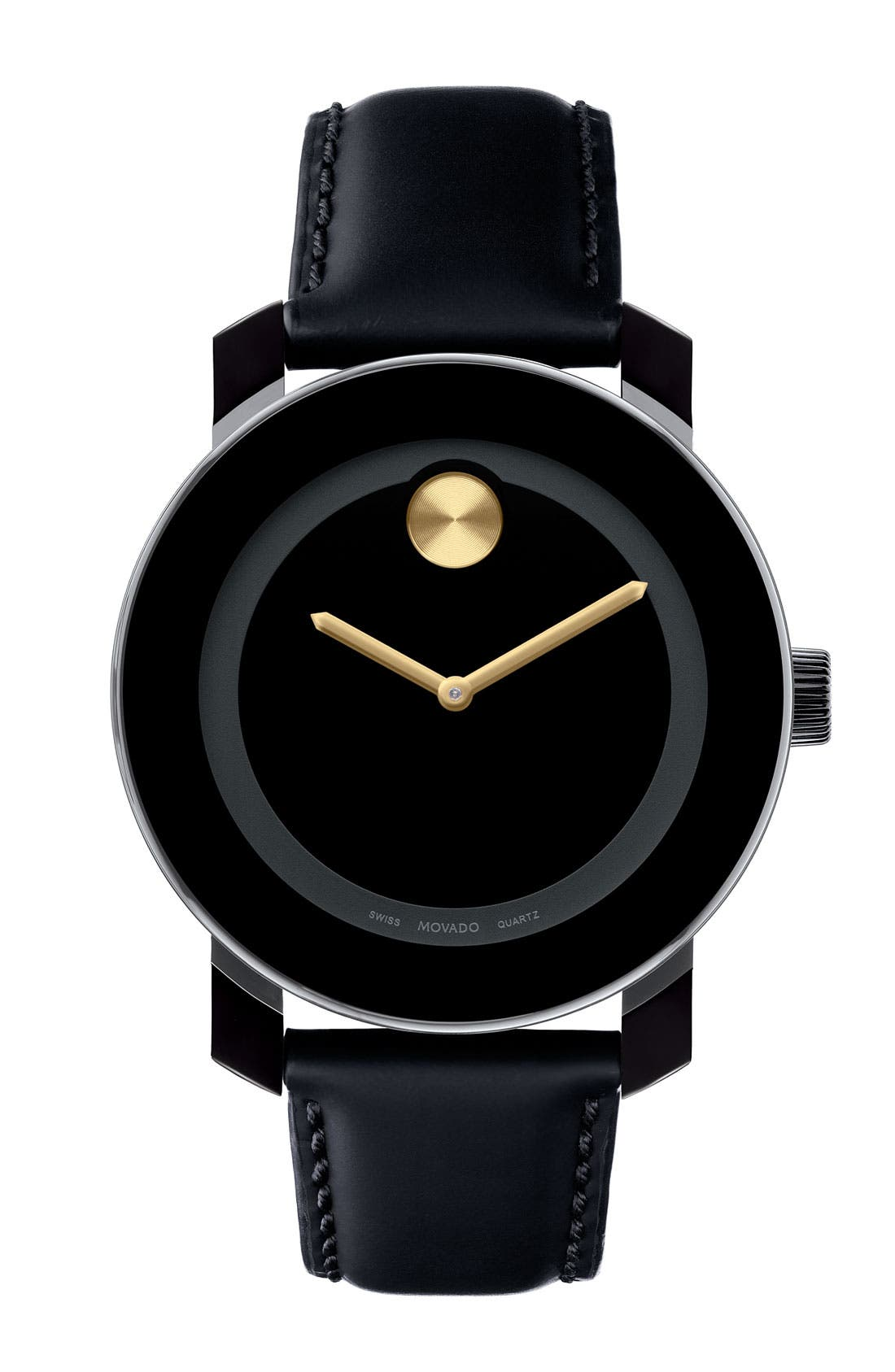 Alternate Image 1 Selected - Movado 'Small Bold' Metallic Marker Watch
