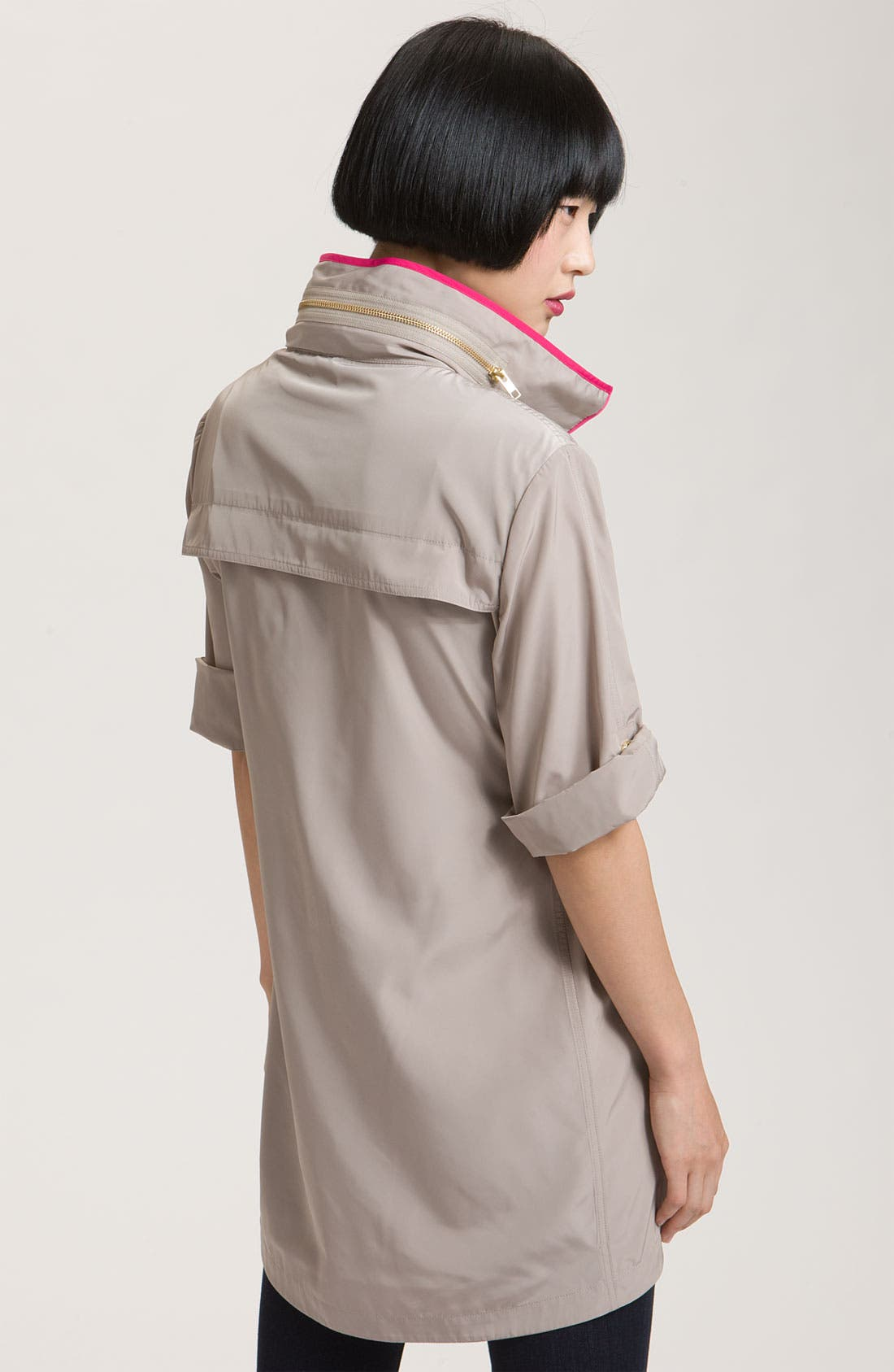 Alternate Image 2  - Ali Ro Short Sleeve Anorak with Contrast Trim