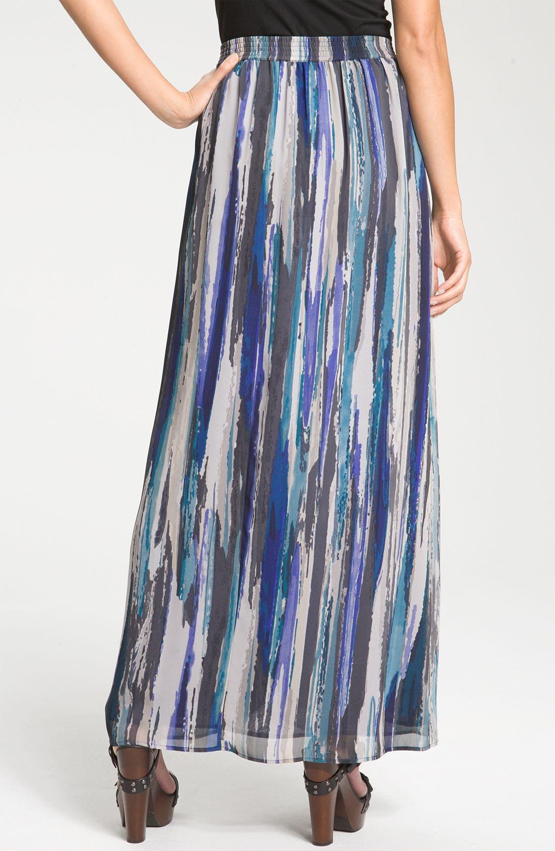 Alternate Image 2  - Halogen® Chiffon Maxi Skirt