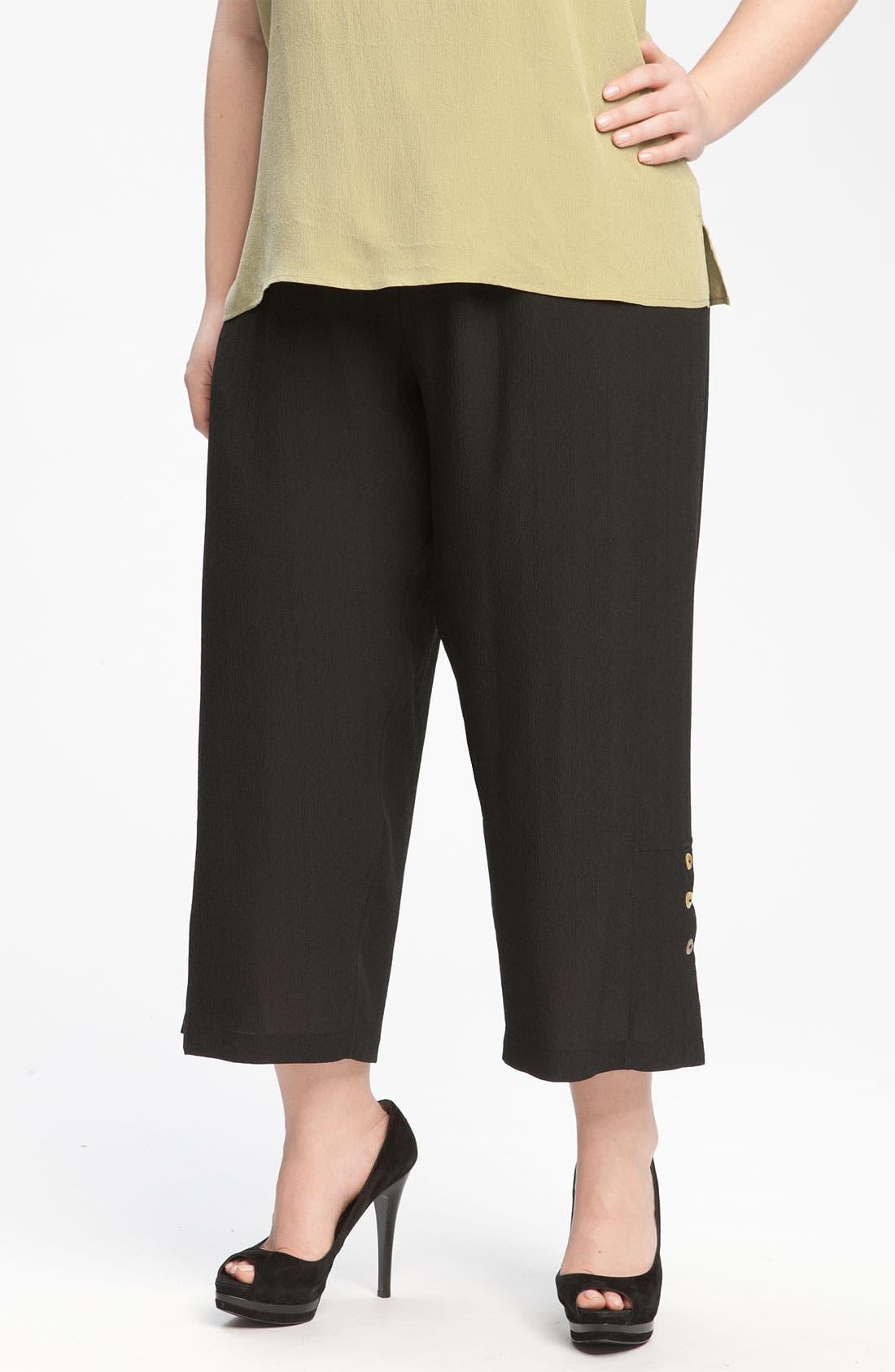 Alternate Image 3  - Citron Crop Silk Pants (Plus)