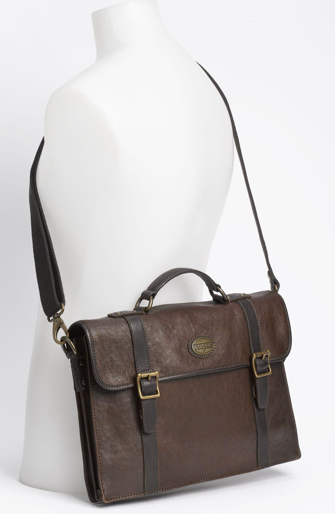 Alternate Image 4  - Fossil 'Estate' Leather Portfolio Briefcase