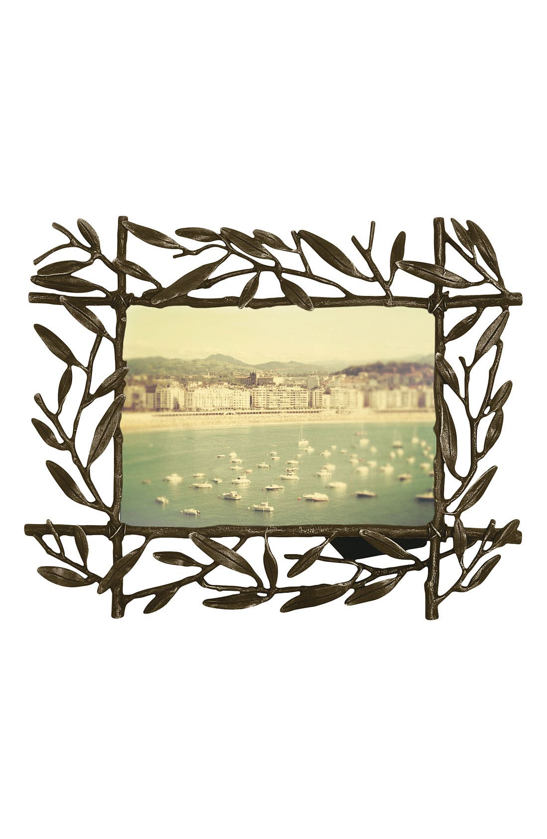 Alternate Image 1 Selected - Michael Aram 'Olive Branch' Oxidized Picture Frame (4x6)
