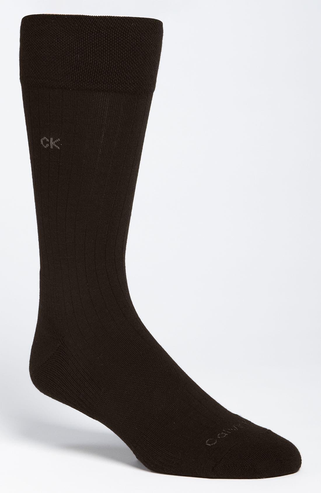 Alternate Image 1 Selected - Calvin Klein 'Ultra Fit' Socks