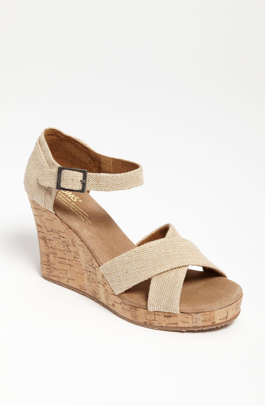 Alternate Image 1 Selected - TOMS 'Sierra' Wedge Sandal