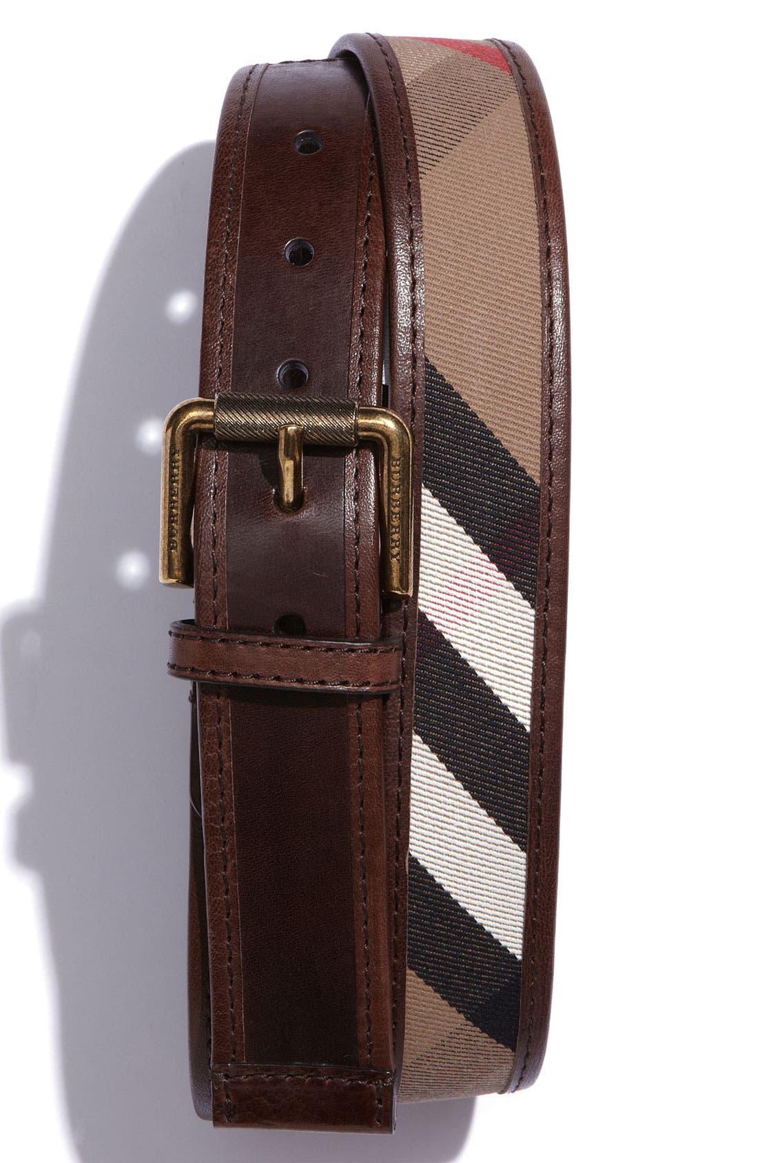 Alternate Image 1 Selected - Burberry Check Print Belt