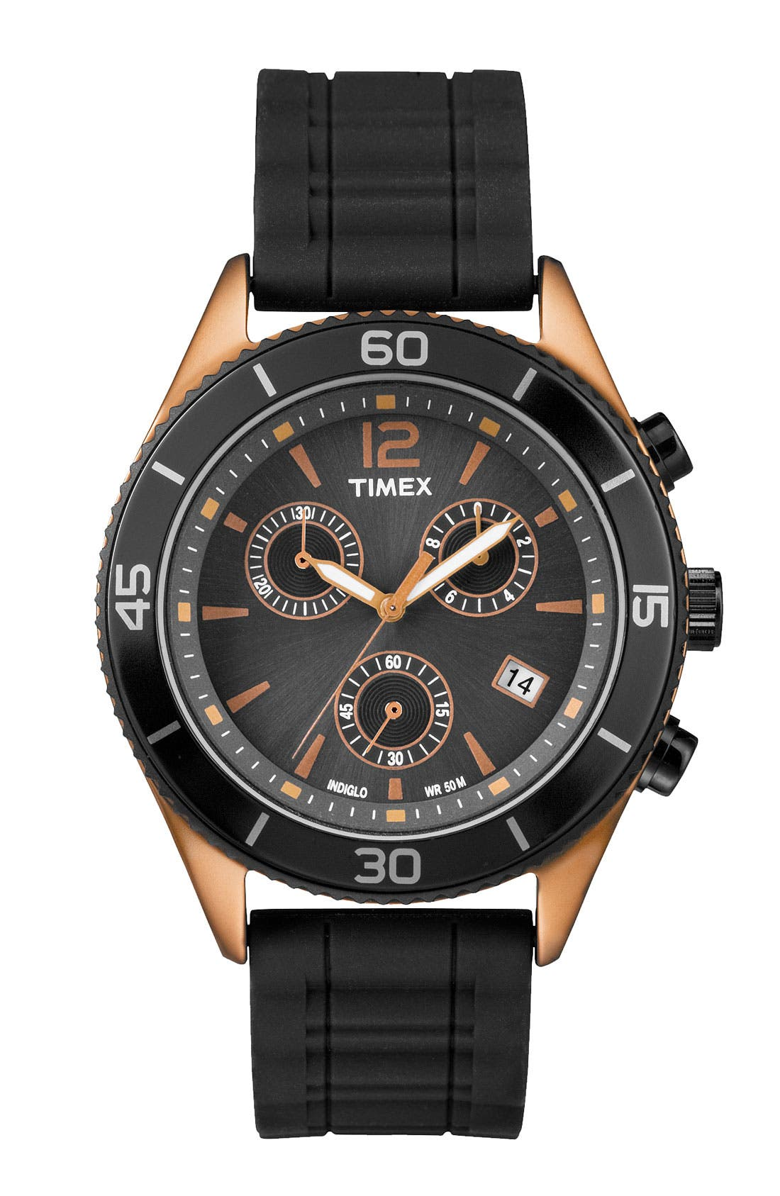 Alternate Image 1 Selected - Timex® Round Chronograph Watch