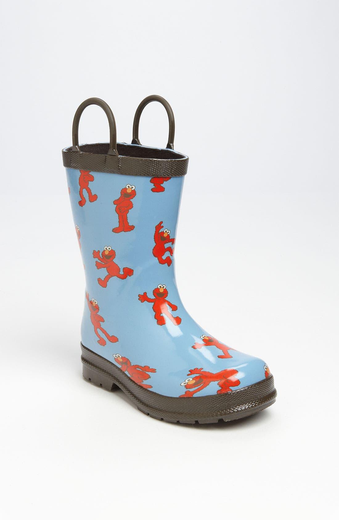 Alternate Image 1 Selected - Hatley 'Sesame Street® - Elmo' Rain Boot (Walker & Toddler)