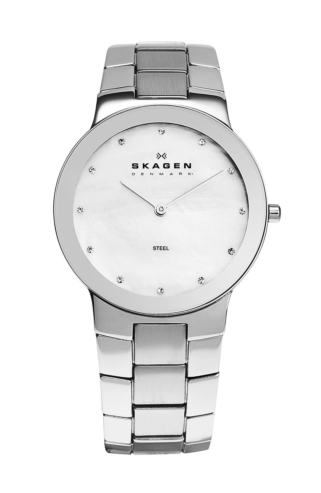Alternate Image 1 Selected - Skagen Round Bracelet Watch