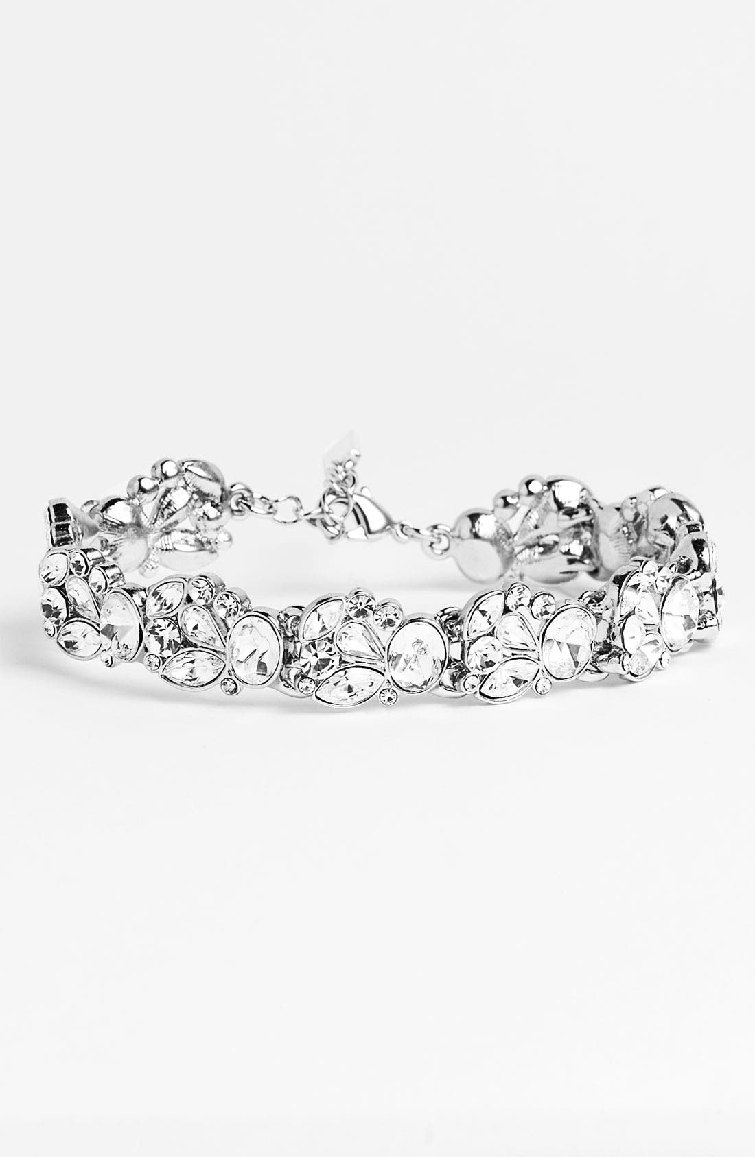Alternate Image 1 Selected - Nina 'Lucita' Crystal Floral Bracelet