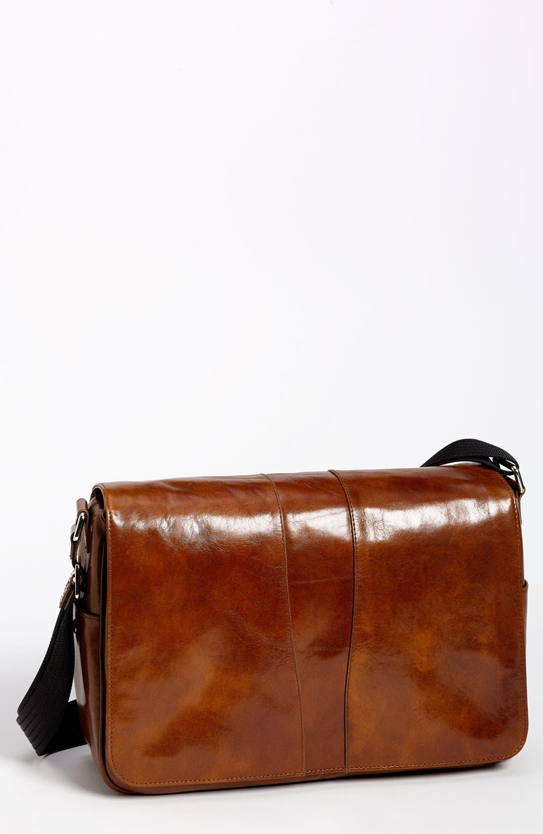 BOSCA Leather Messenger Bag