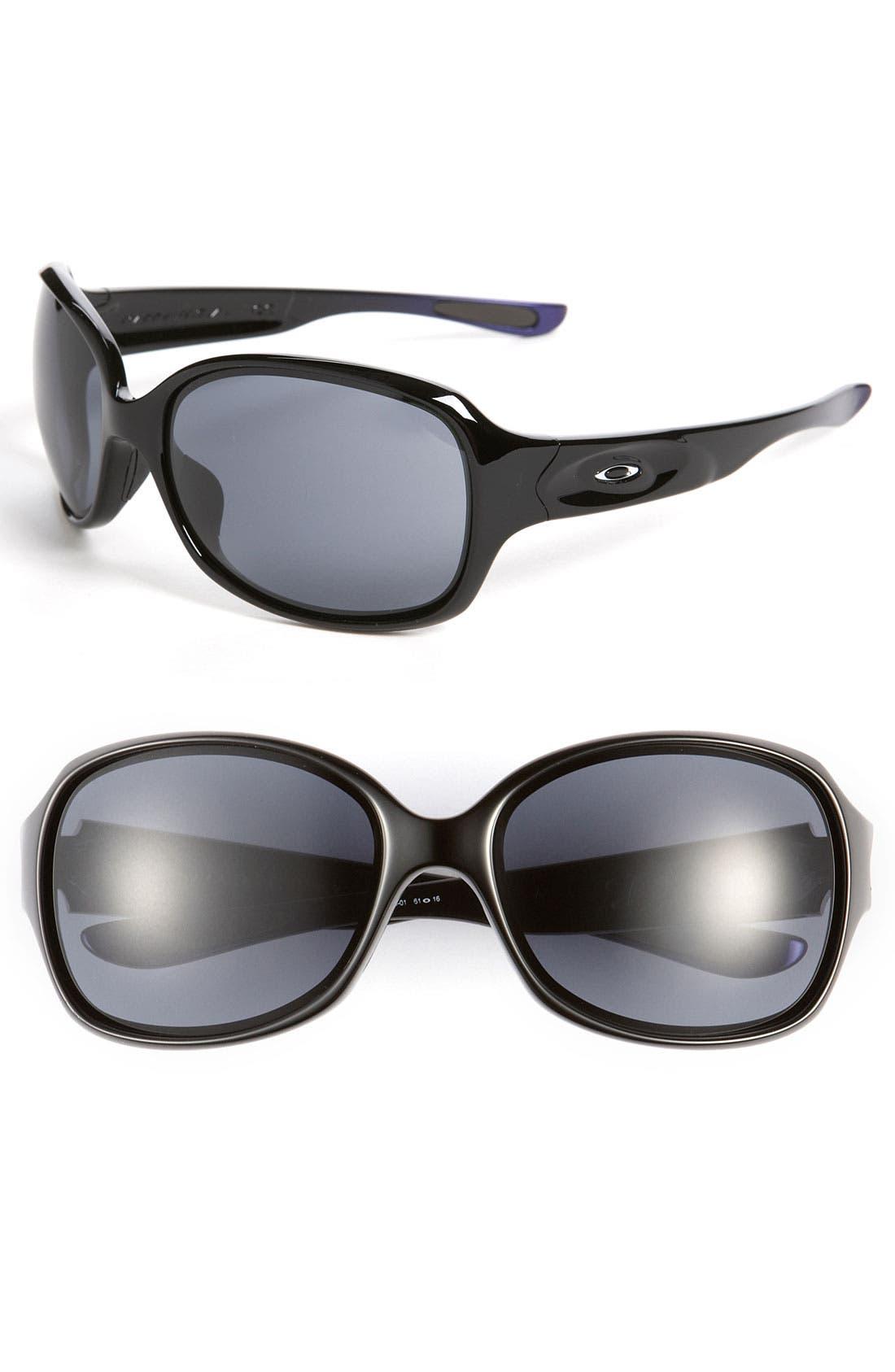 Main Image - Oakley 'Drizzle™' Metallic Temple Polarized Sunglasses