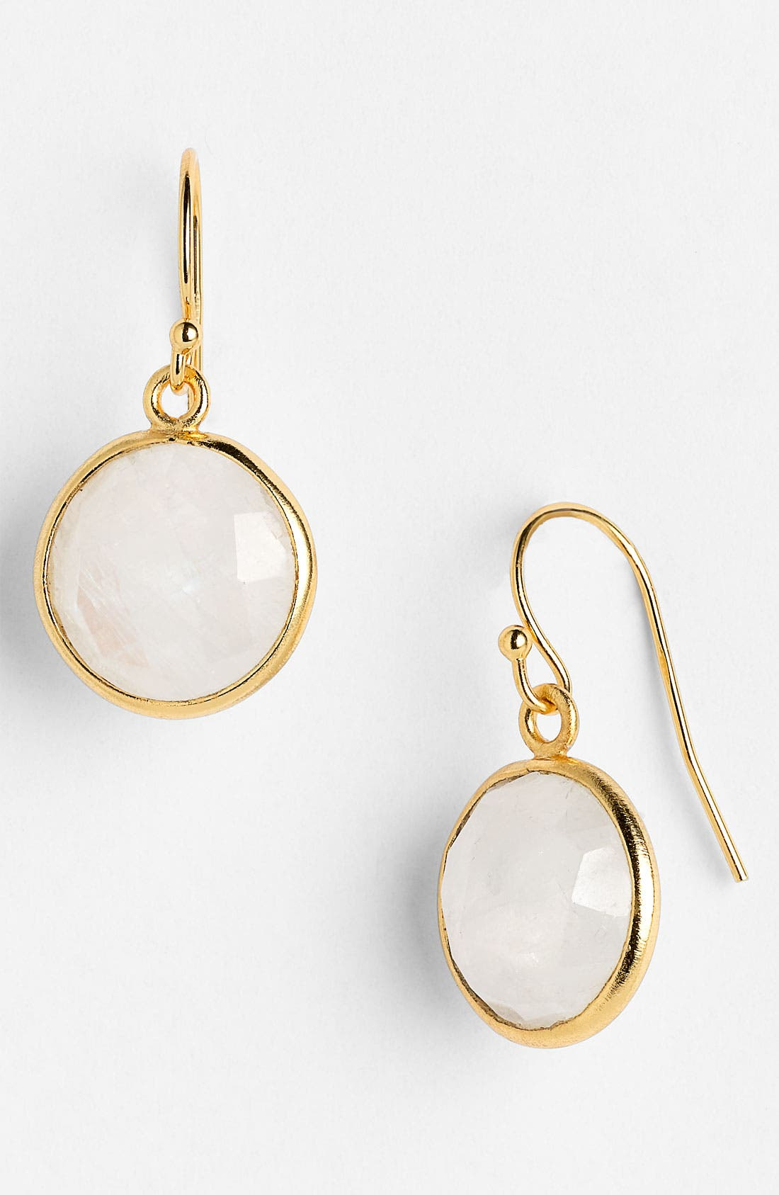 Alternate Image 1 Selected - NuNu Designs Round Semiprecious Drop Earrings
