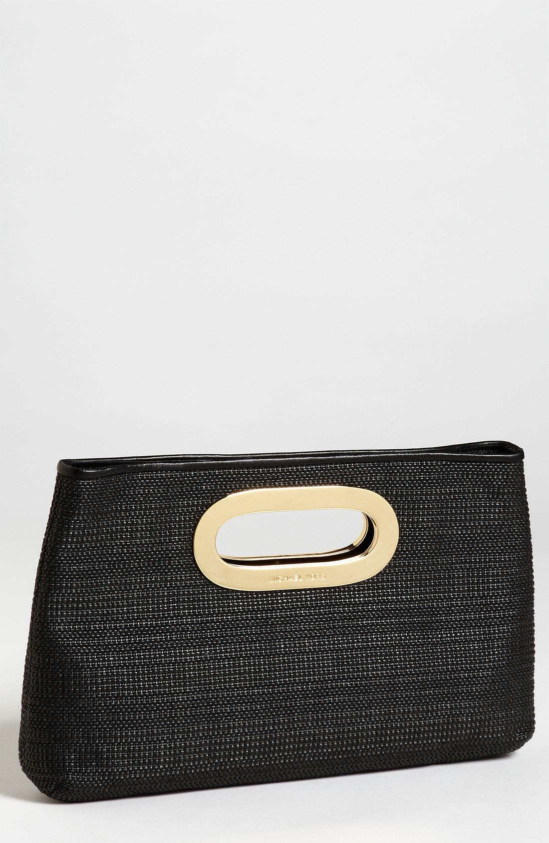 Main Image - MICHAEL Michael Kors 'Berkley' Straw Clutch