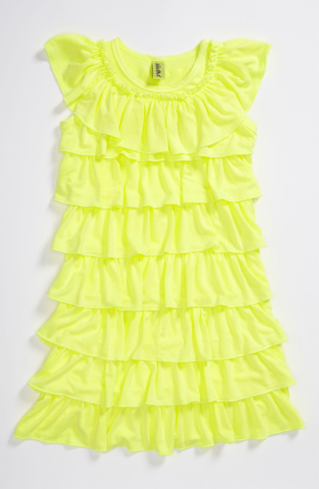 Main Image - Mignone Allover Ruffle Dress (Little Girls)