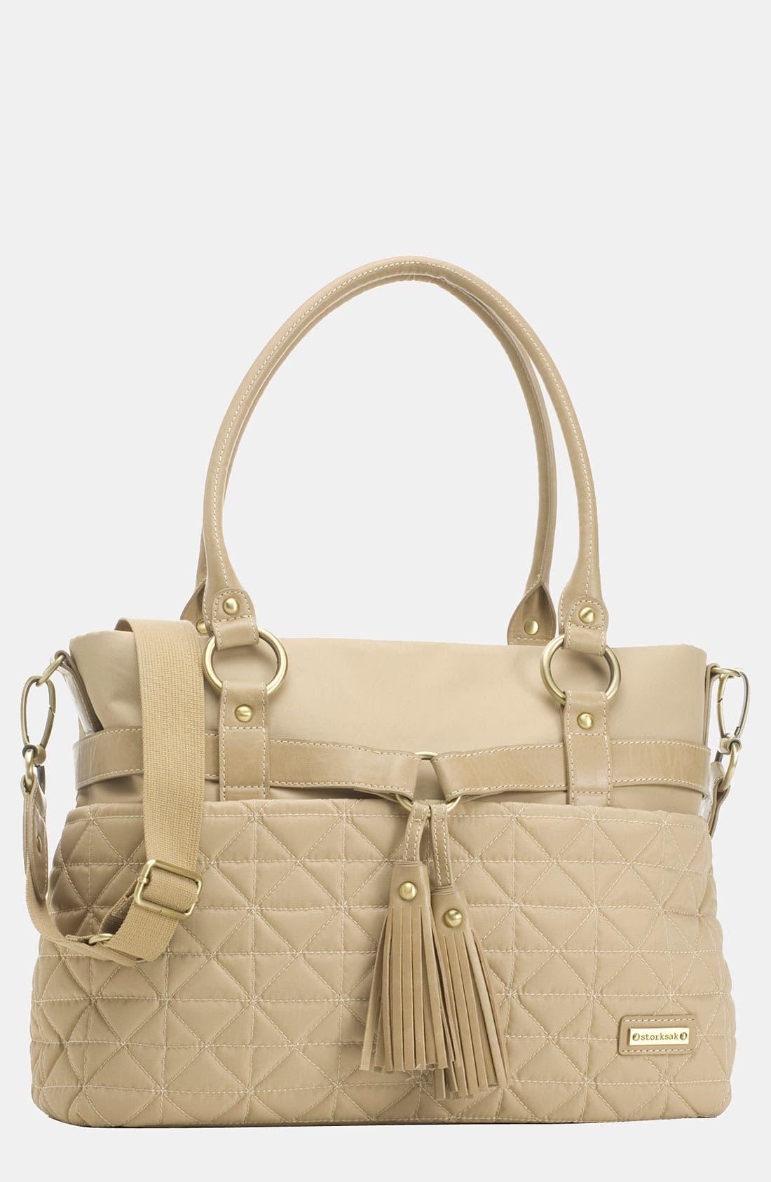Main Image - Storksak 'Isabella' Nylon Diaper Bag