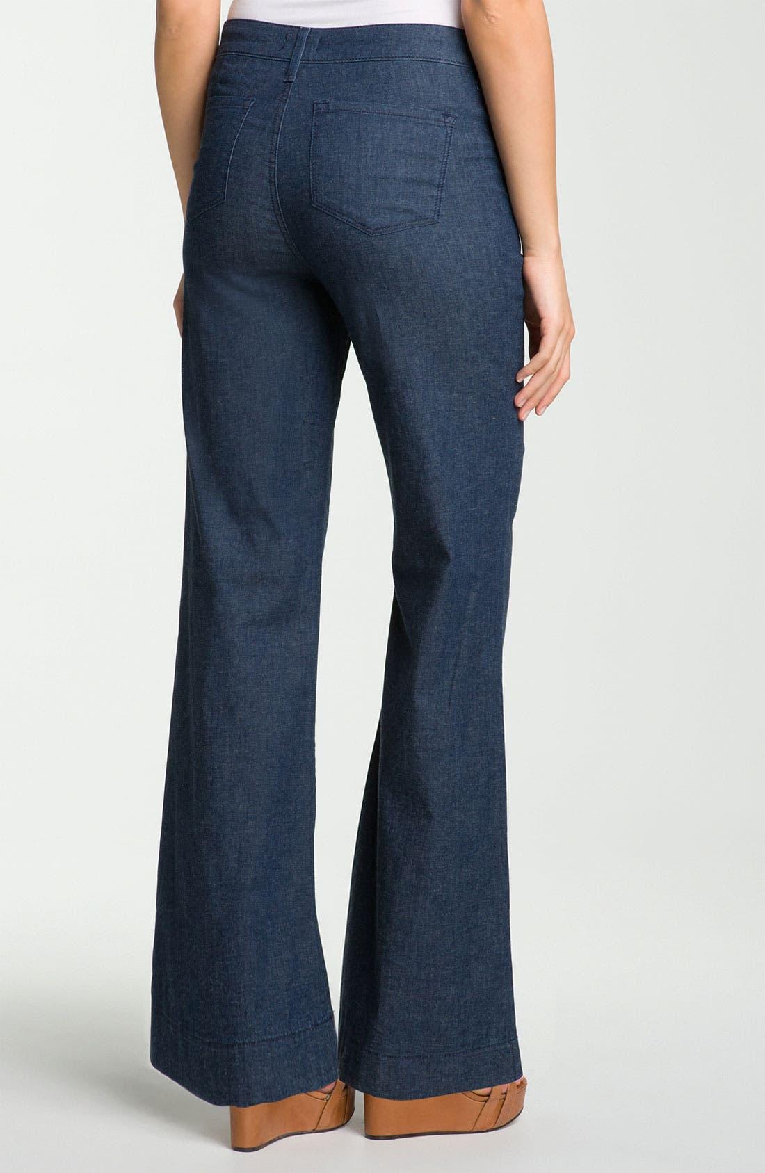 Alternate Image 2  - NYDJ 'Tina Sailor' Wide Leg Jeans (Petite)