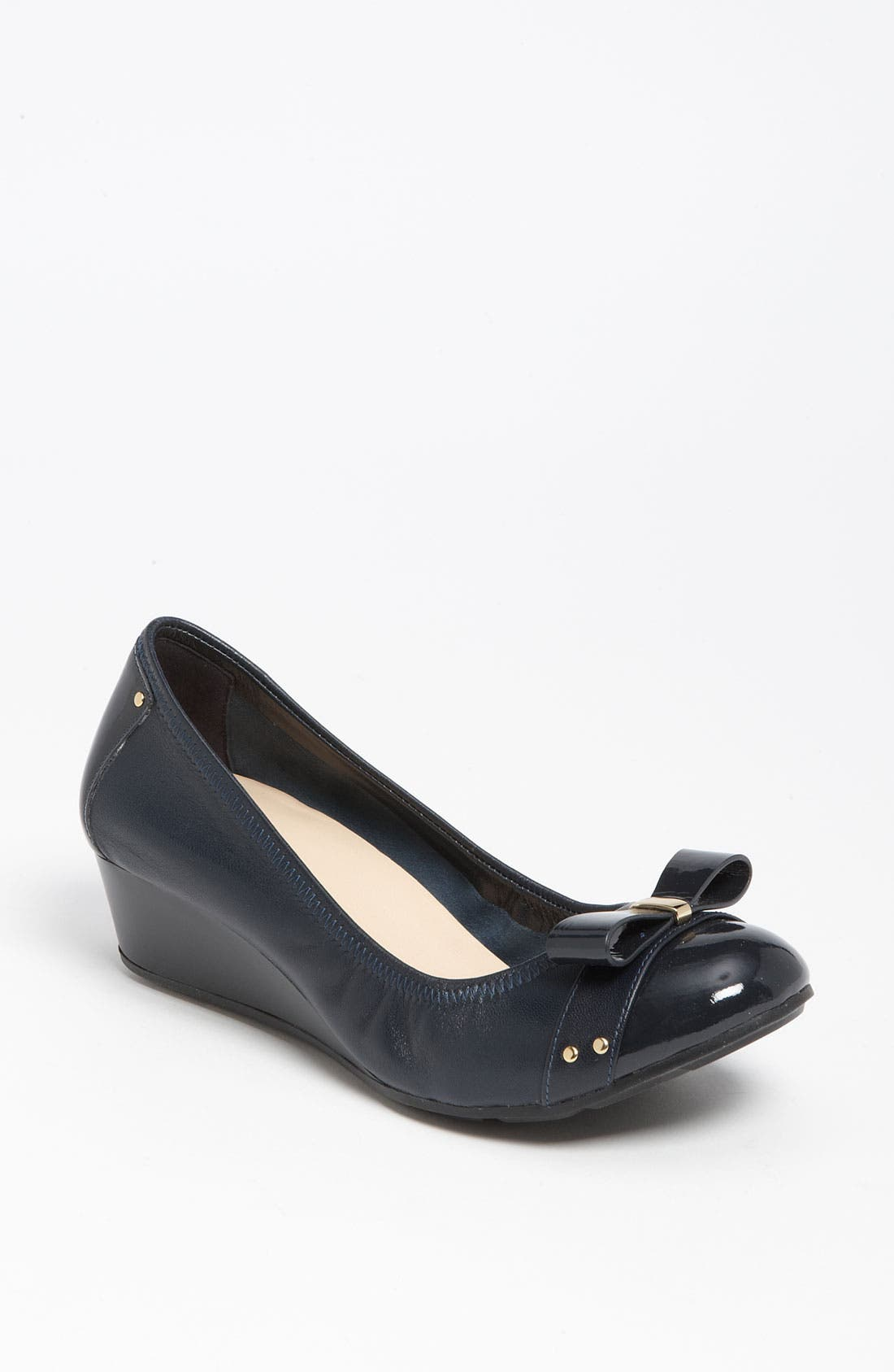 'Air Monica' Wedge,                         Main,                         color, India Ink/ Navy