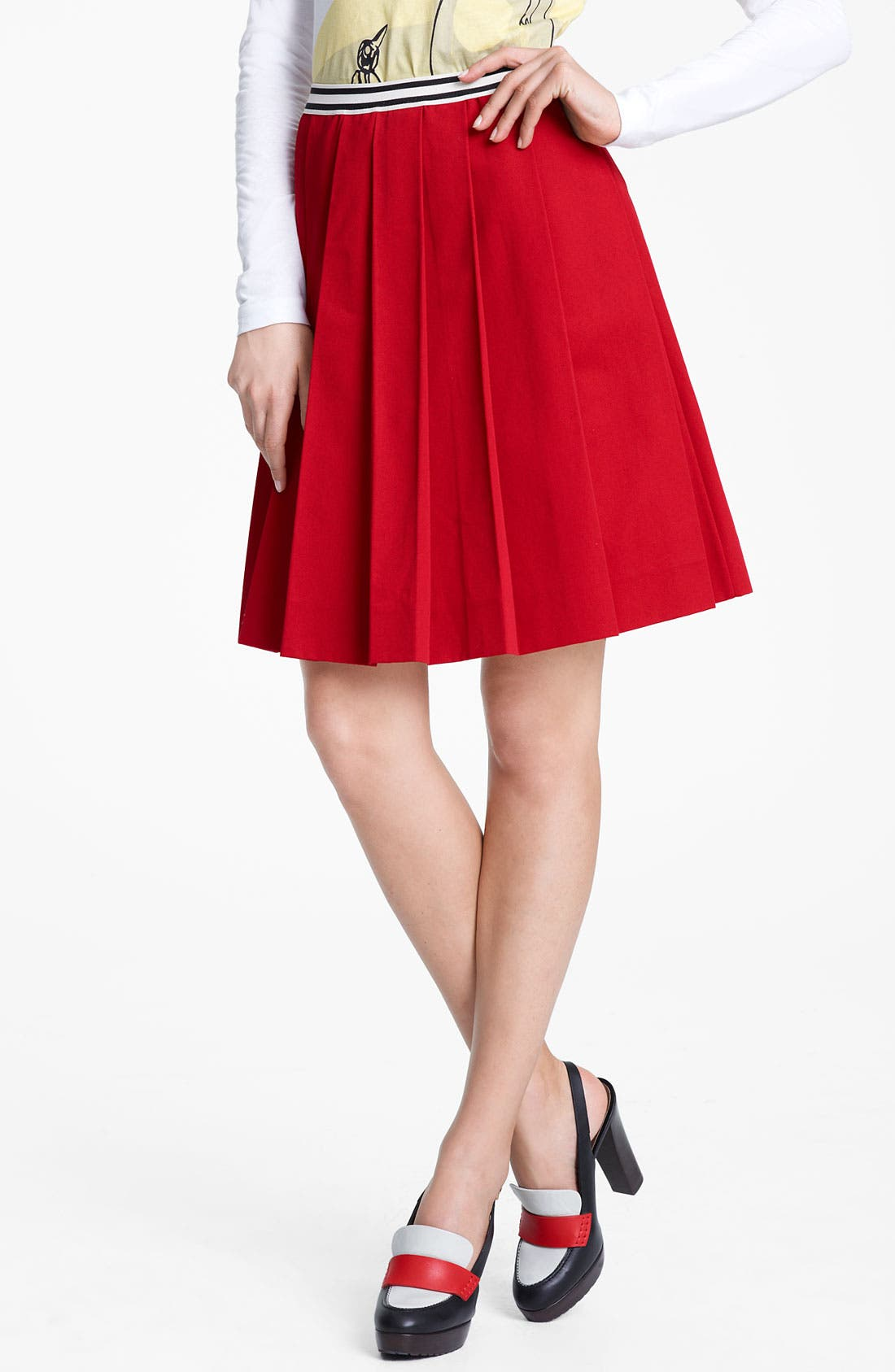 Main Image - Marni Edition Contrast Waist Gabardine Skirt