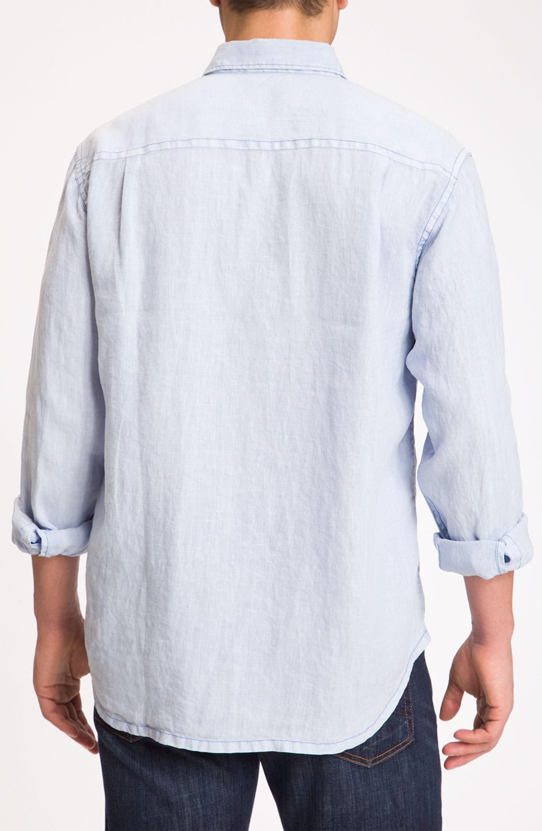 Alternate Image 2  - Tommy Bahama 'Beachy Breezer' Linen Sport Shirt (Big & Tall)