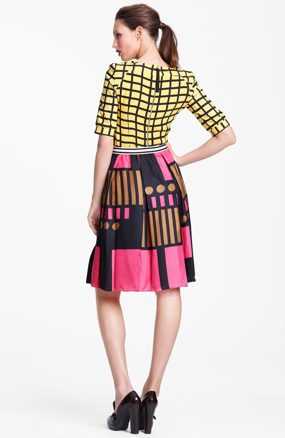 Alternate Image 2  - Marni Edition Grid Print Crepe Top