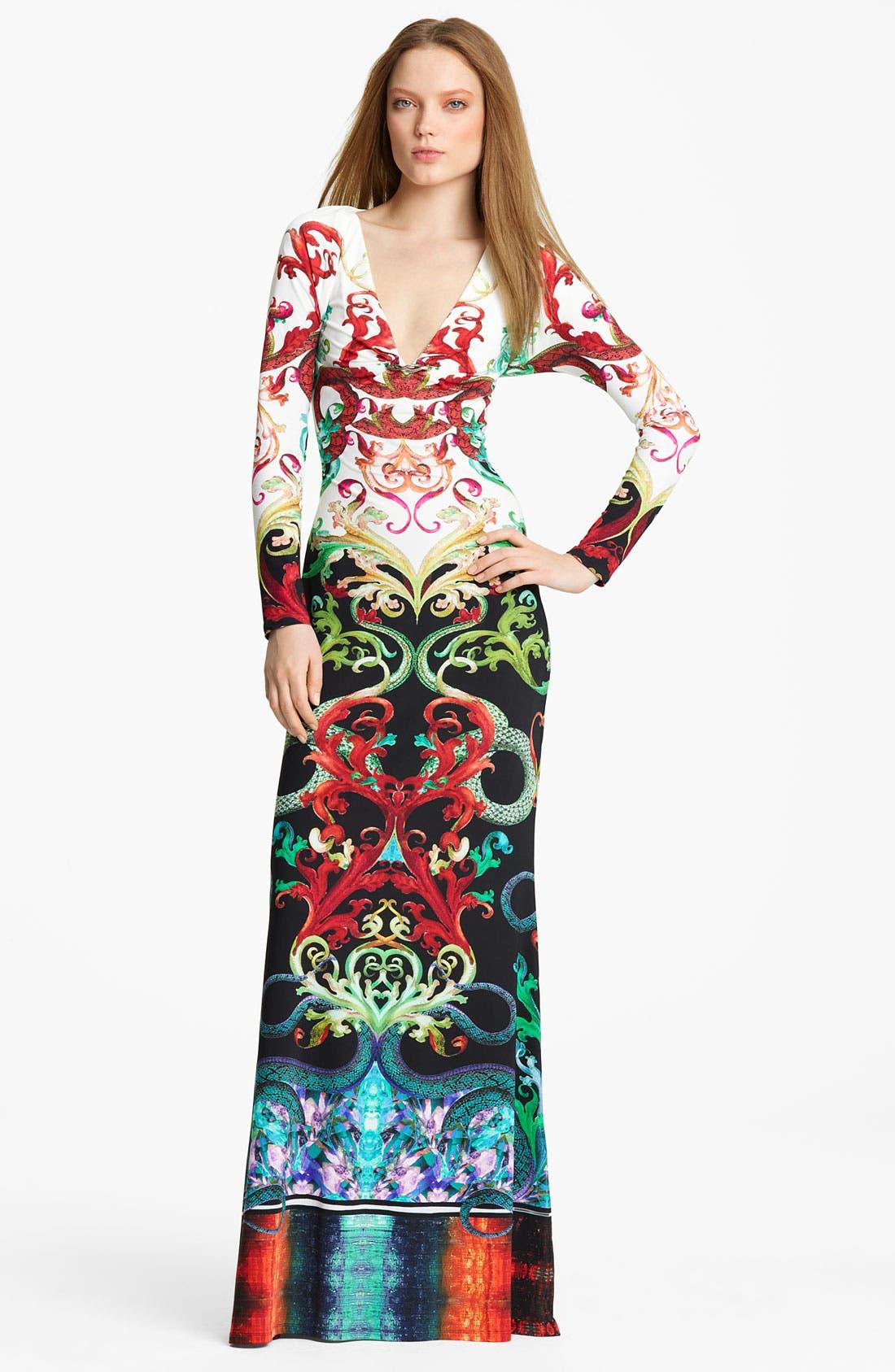 Main Image - Roberto Cavalli Print Gown
