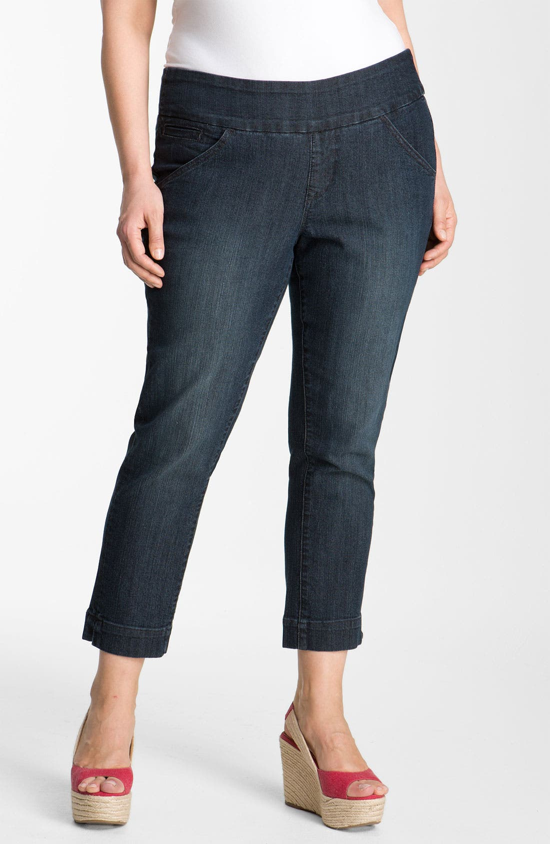 Alternate Image 1 Selected - Jag Jeans 'Attie' Slim Ankle Jeans (Plus)