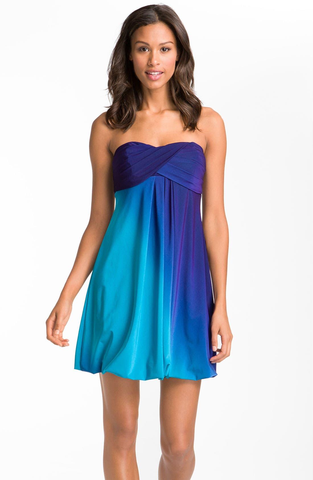Main Image - Xscape Strapless Ombré Jersey Dress