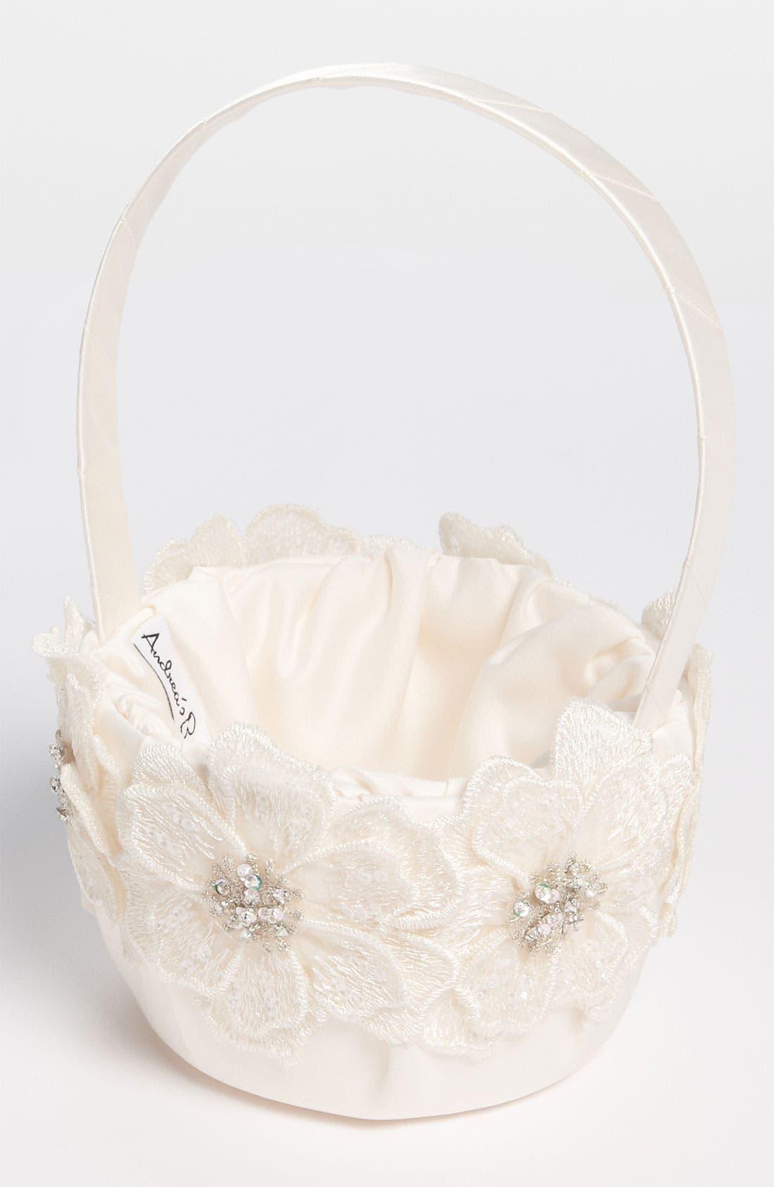 Alternate Image 1 Selected - Andrea's Beau Gossamer Flower Girl Basket