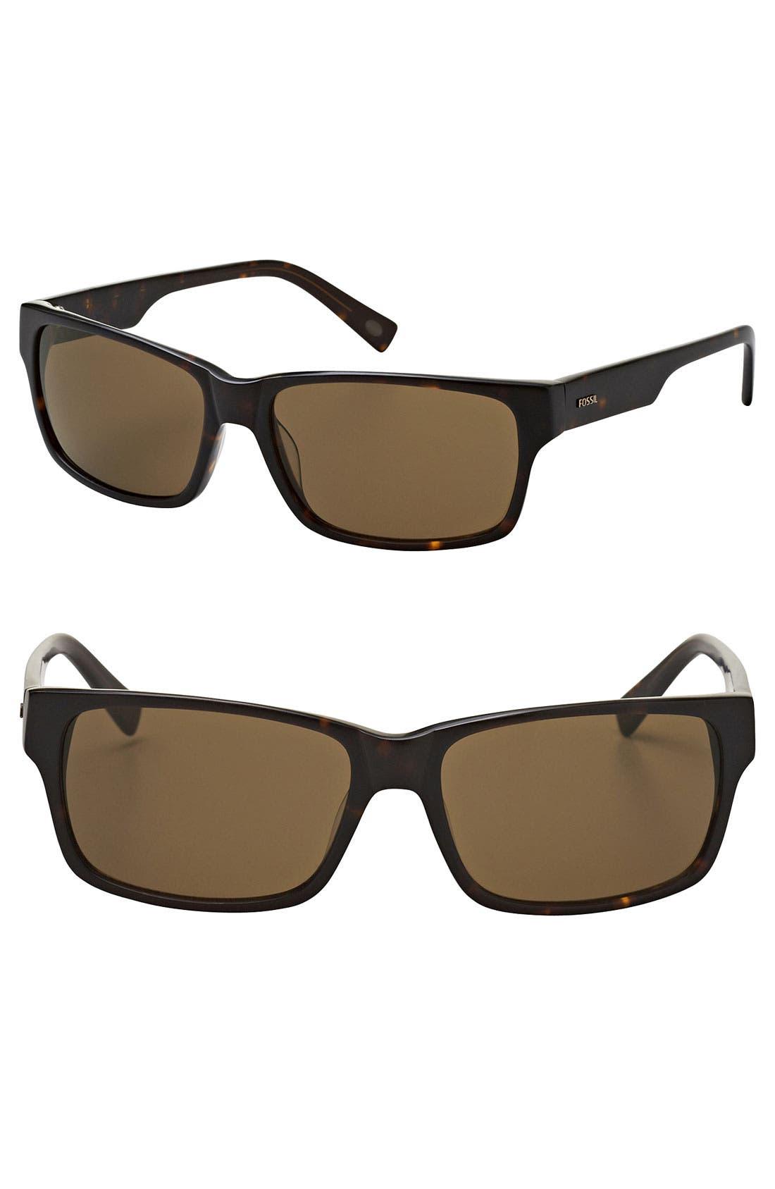 Main Image - Fossil 'Jackson' 60mm Polarized Sunglasses