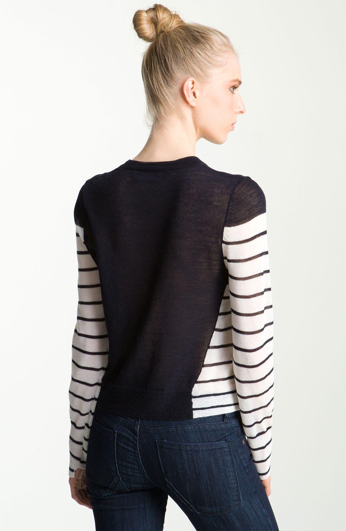 Alternate Image 2  - A.L.C. 'Faye' Asymmetrical Contrast Sweater