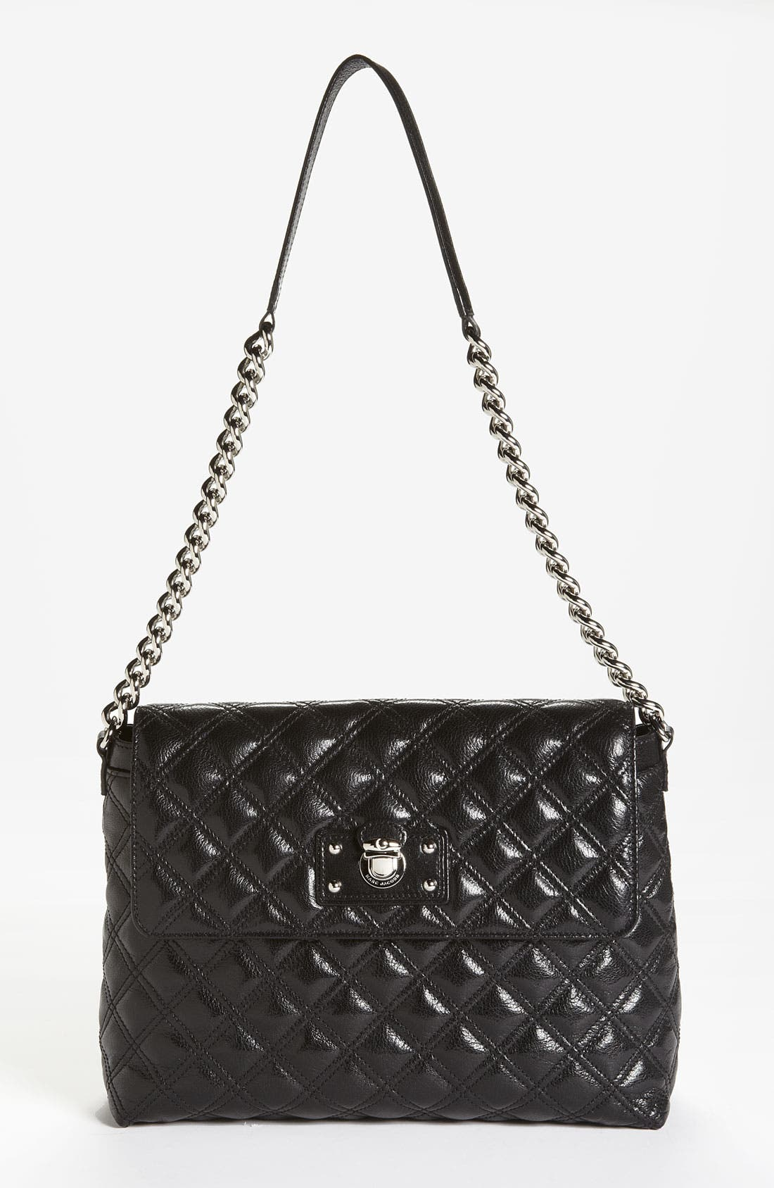 Main Image - MARC JACOBS 'The XL Single' Leather Shoulder Bag