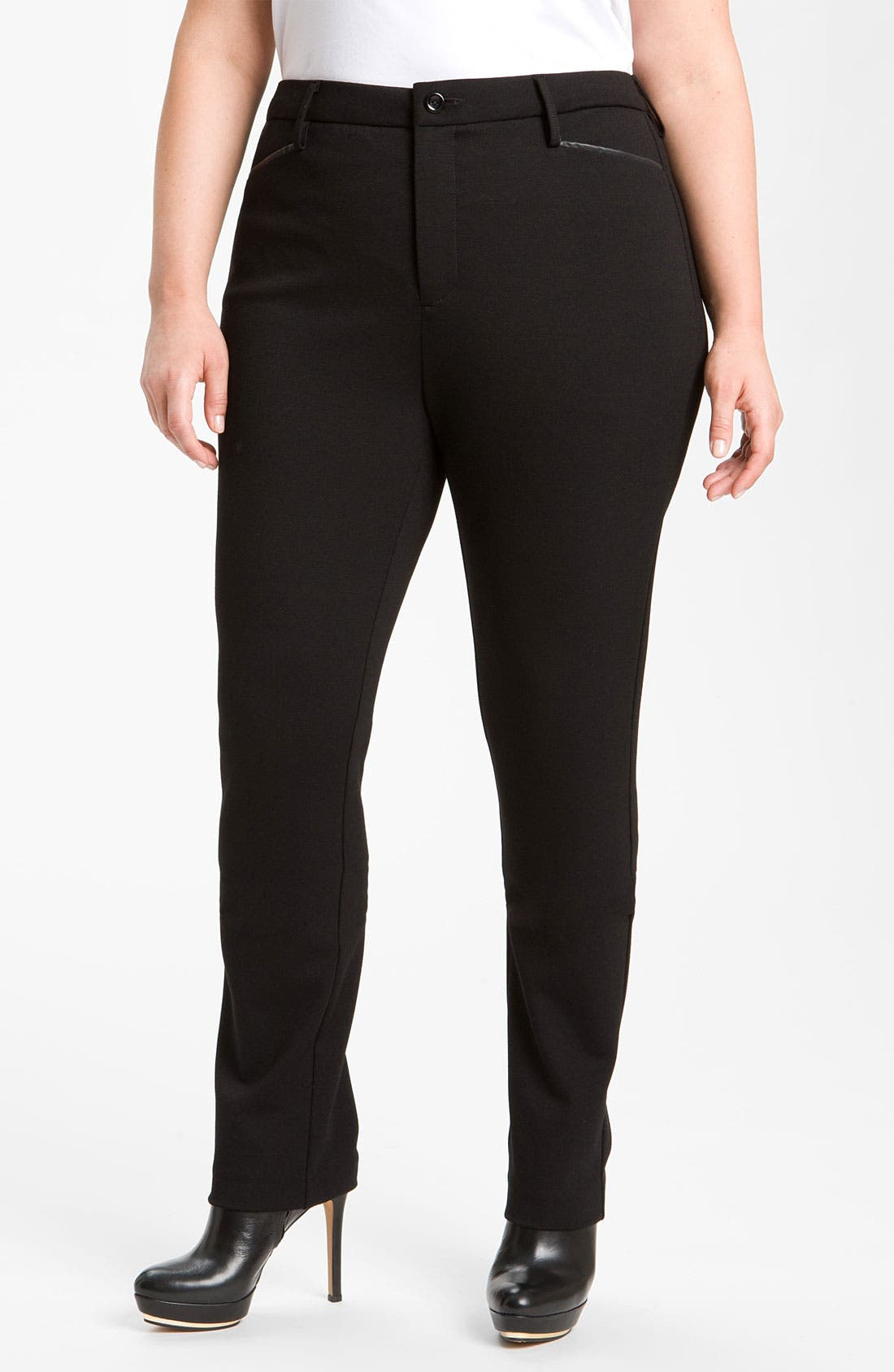 Alternate Image 2  - NYDJ Stretch Ponte Knit Pants (Plus)