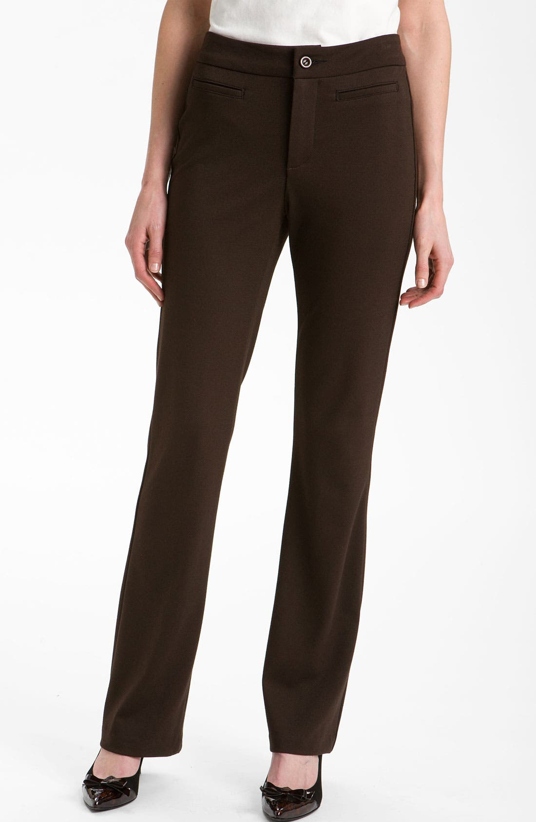Alternate Image 1 Selected - NYDJ Stretch Ponte Trousers (Petite)