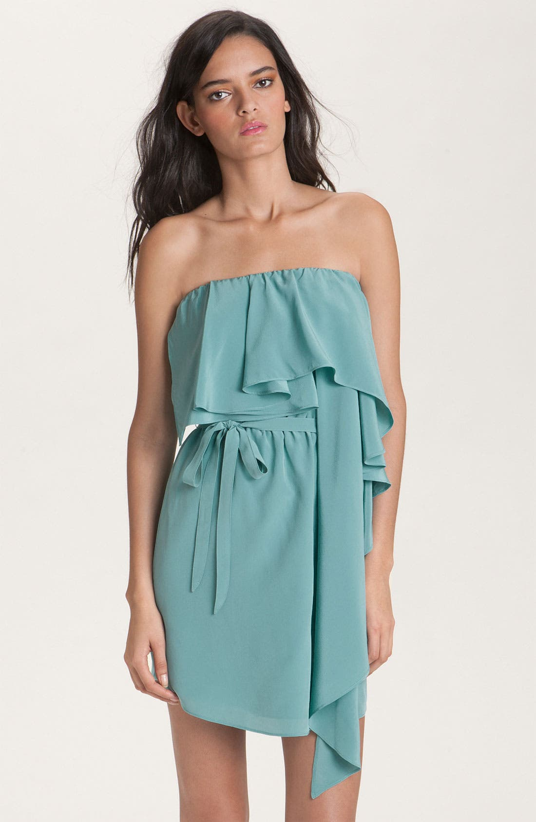 Alternate Image 1 Selected - Haute Hippie Strapless Silk Ruffle Dress