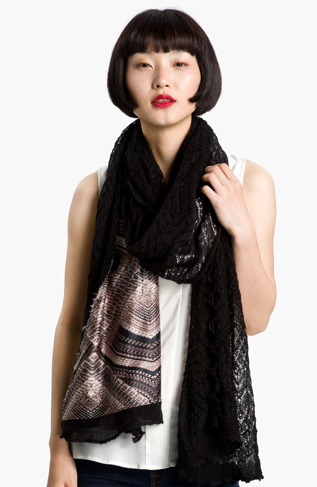 Alternate Image 1 Selected - Nordstrom Collection Geo Print Knit Wrap