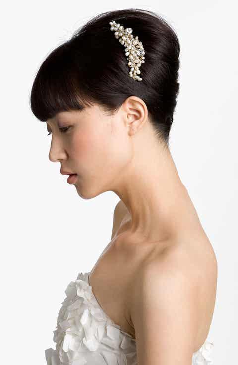 Wedding bridal hair accessories headbands nordstrom cara vintage hair comb junglespirit Image collections