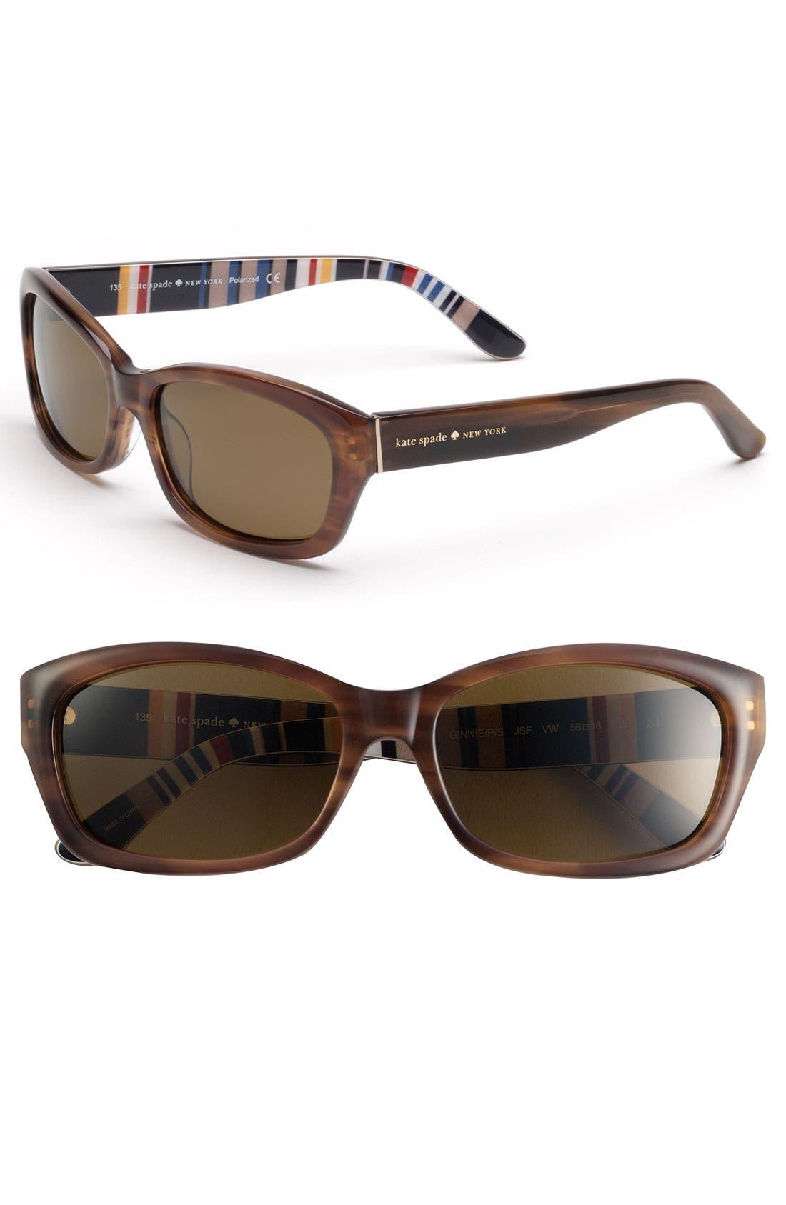 Alternate Image 1 Selected - kate spade new york 'ginnie' polarized sunglasses