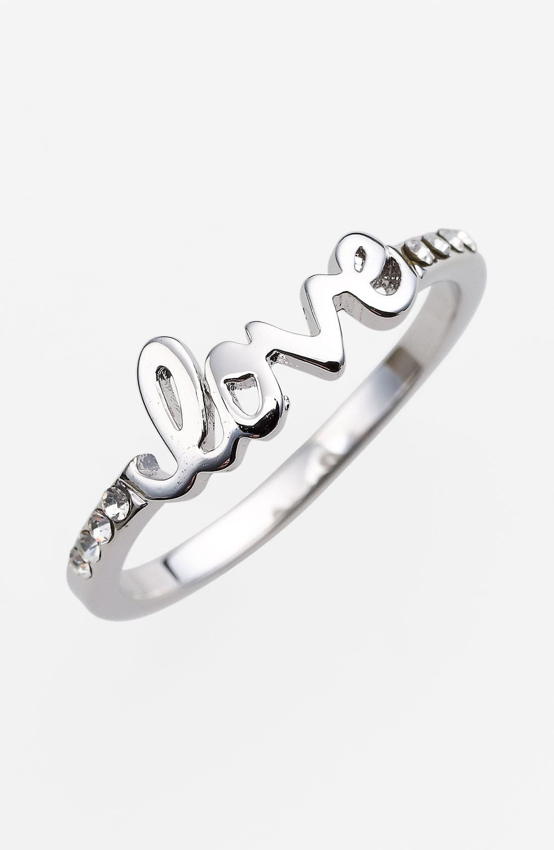 Alternate Image 1 Selected - Ariella Collection 'Messages - Love' Script Ring (Nordstrom Exclusive)