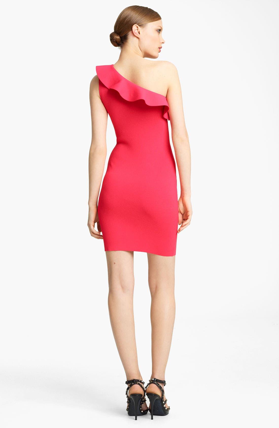 Alternate Image 3  - Valentino One Shoulder Knit Dress