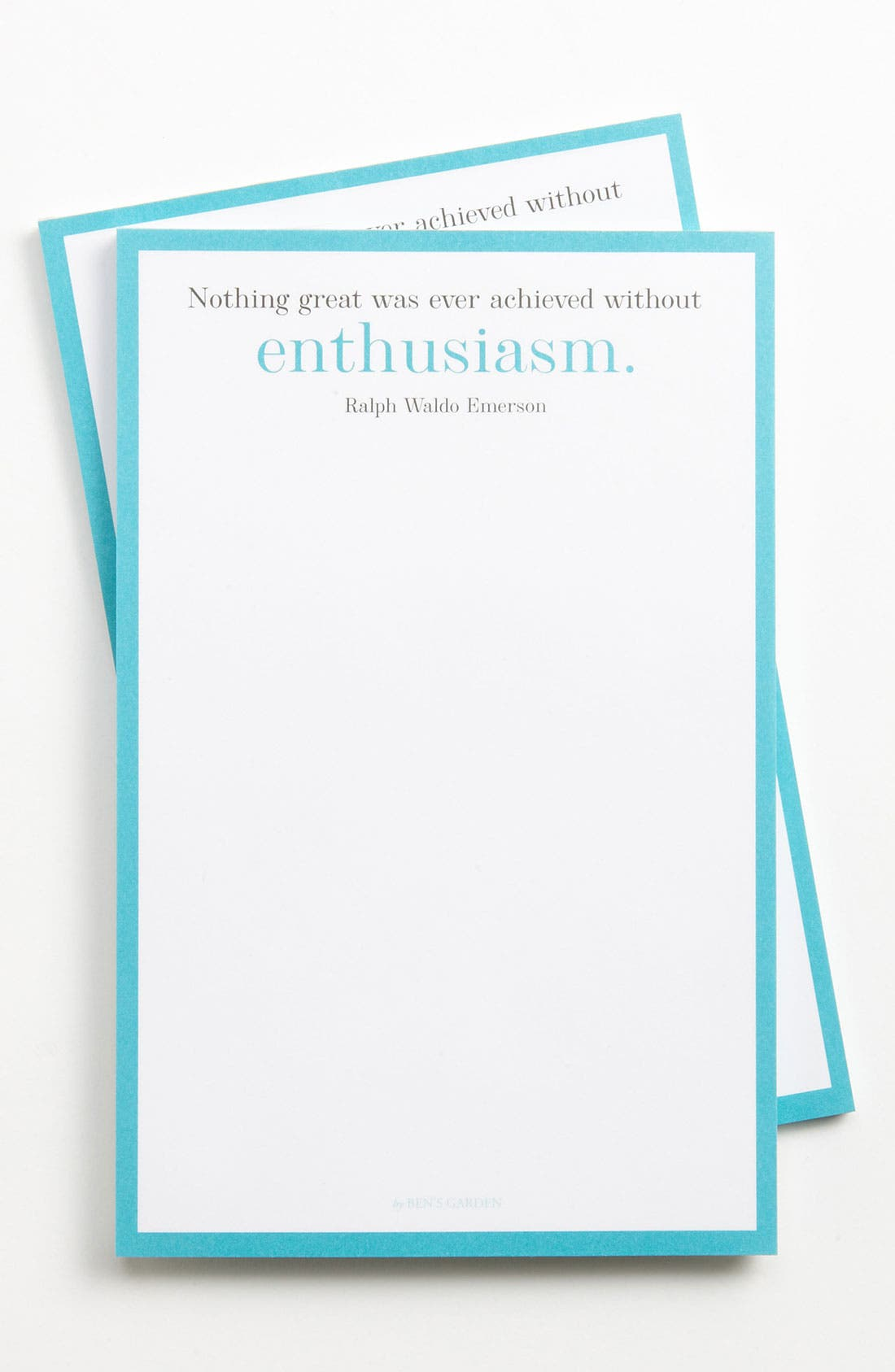 Alternate Image 1 Selected - Ben's Garden 'Nothing Great Was Ever Achieved' Notepads (2-Pack)