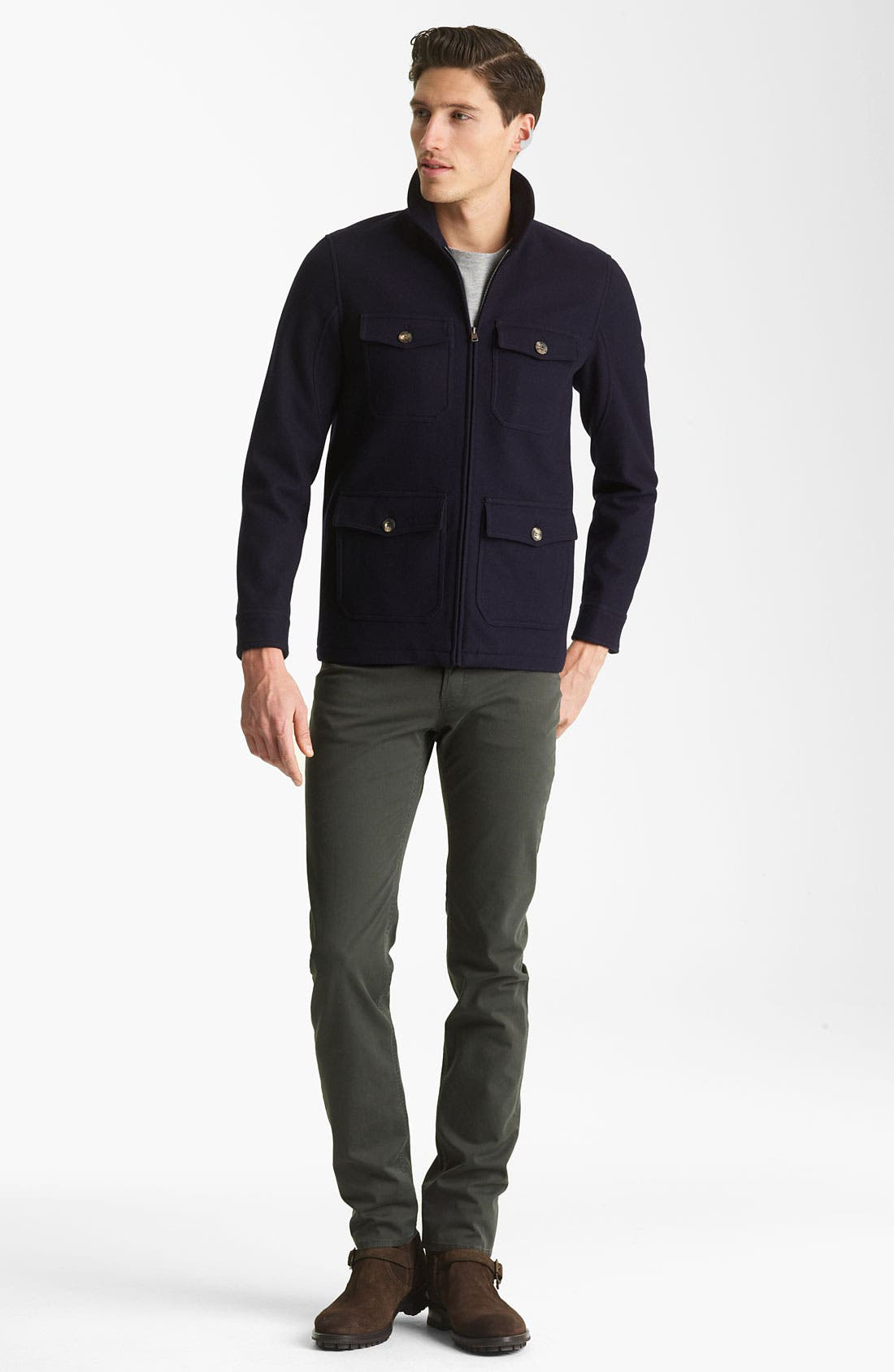 Alternate Image 4  - A.P.C. Round Neck Jacket