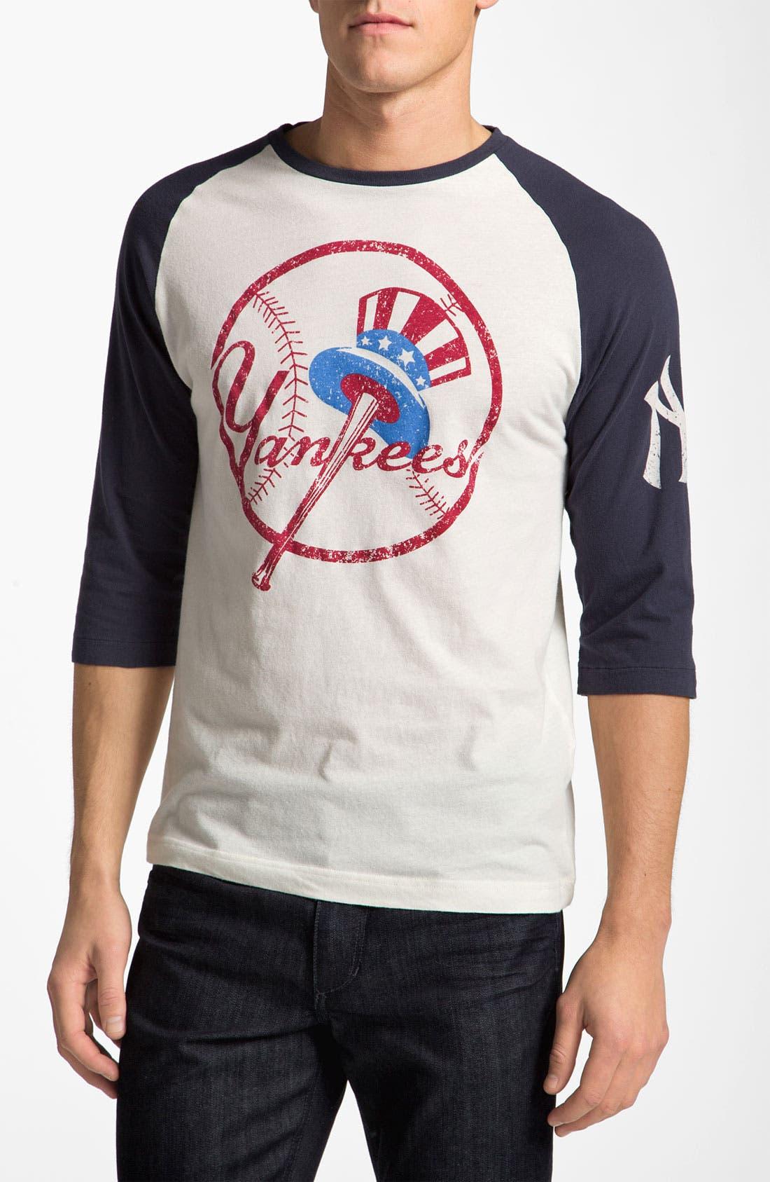 'New York Yankees' Baseball T-Shirt,                         Main,                         color, Cream/ Navy