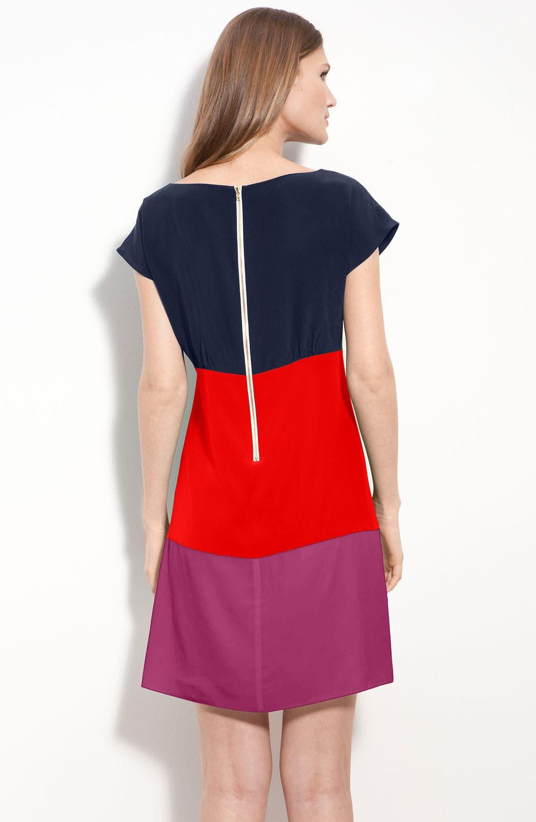 Alternate Image 2  - Eliza J Colorblock Silk Crêpe de Chine Dress