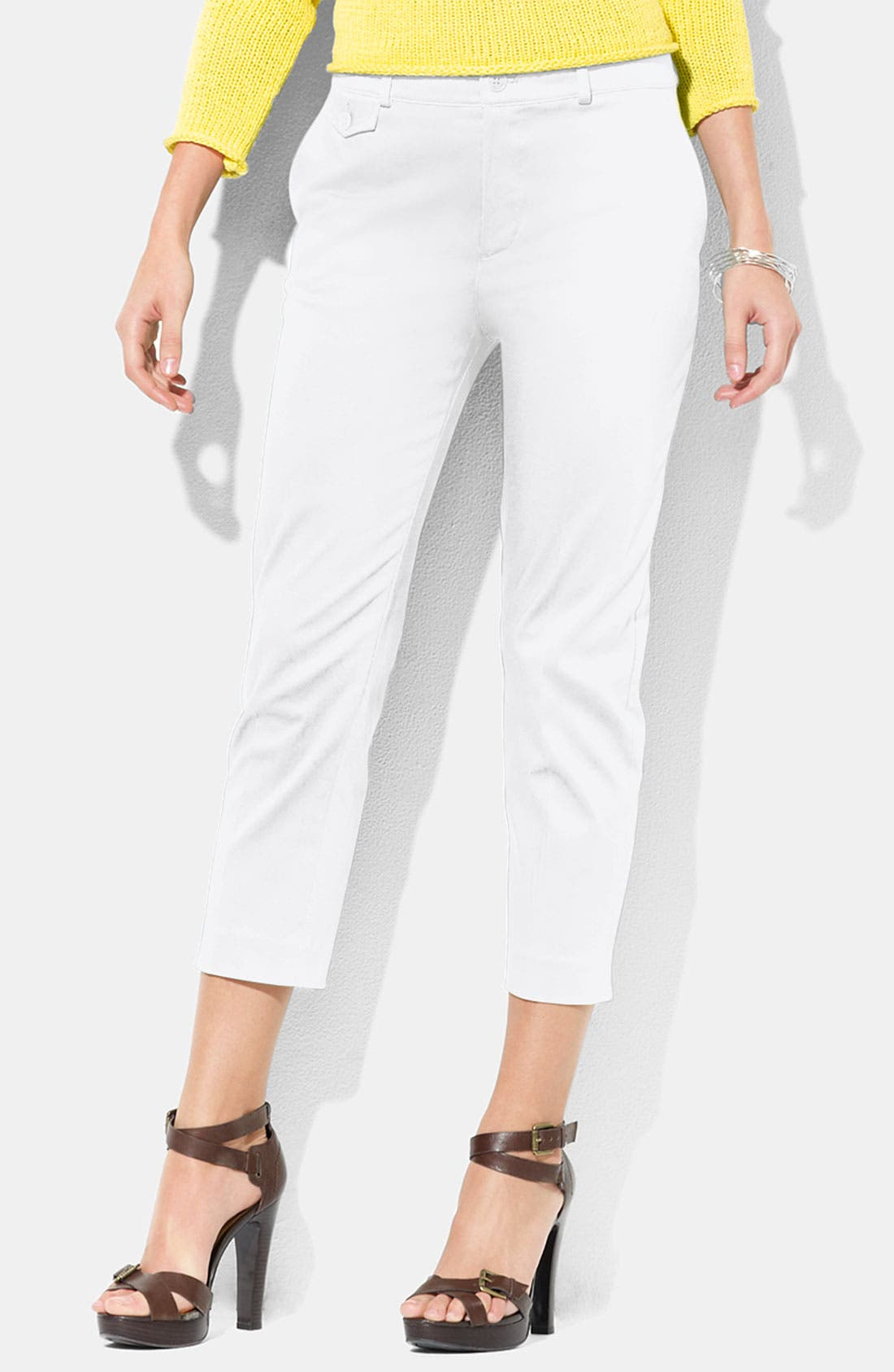 Alternate Image 1 Selected - Lauren Ralph Lauren 'Jodie' Slim Fit Crop Pants (Petite)