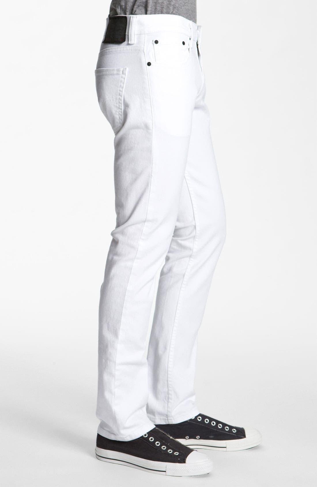 Alternate Image 3  - Levi's® '511™' Skinny Jeans (White)