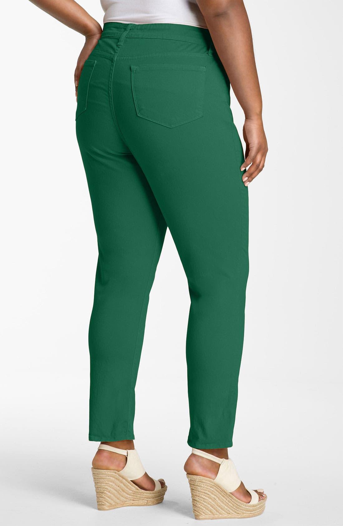 Main Image - Blue Essence Colored Twill Skinny Jeans (Plus)