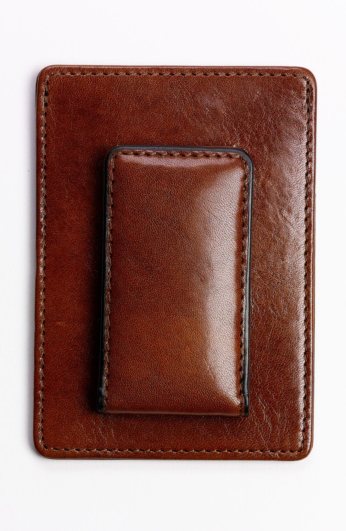 'Old Leather' Front Pocket Wallet,                             Alternate thumbnail 2, color,                             Amber