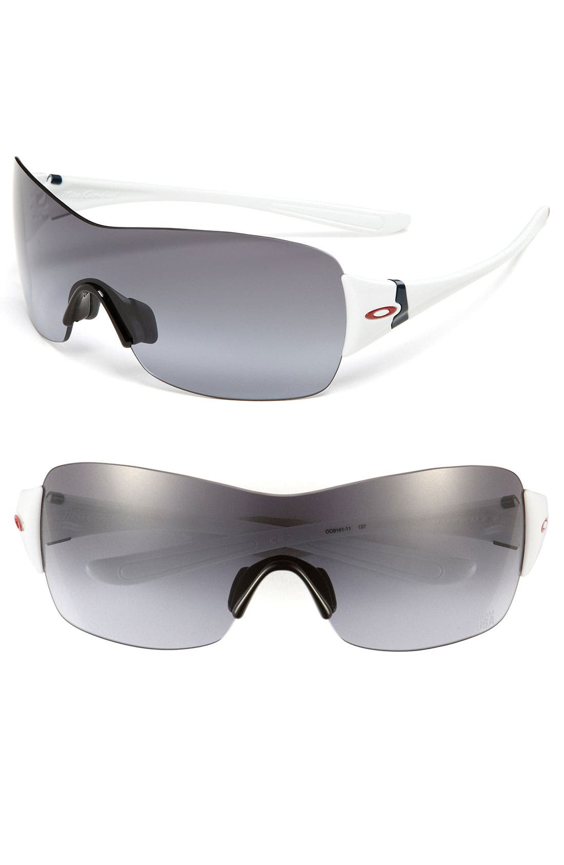 Main Image - Oakley 'Miss Conduct™ - Team USA' 137mm Rimless Shield Sunglasses
