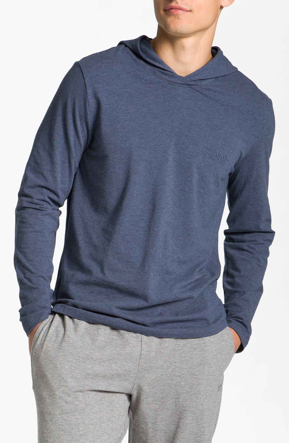 Alternate Image 1 Selected - BOSS Black Hooded Shirt